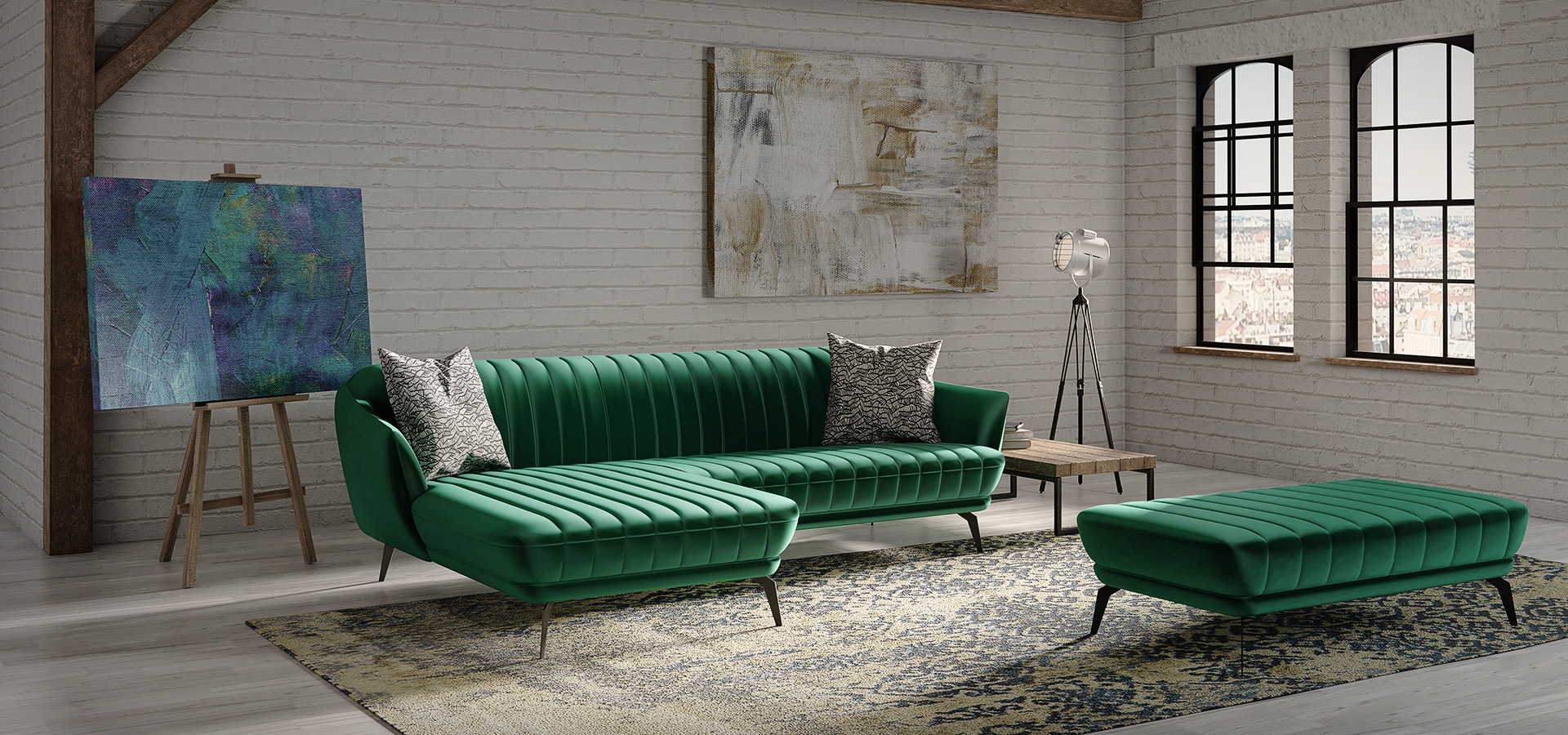 Flori collection – corner sofa